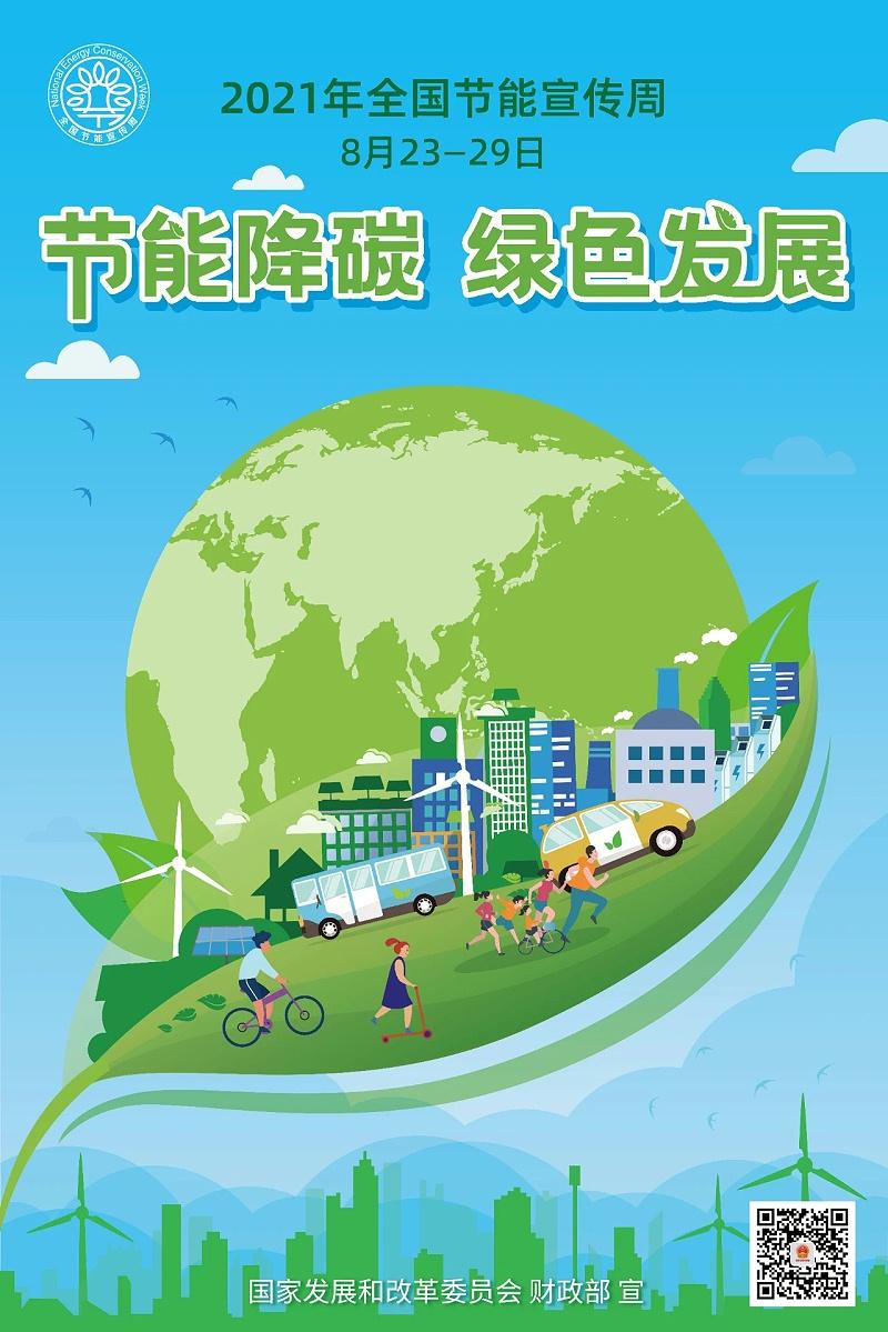 节能降碳绿色发展招贴画