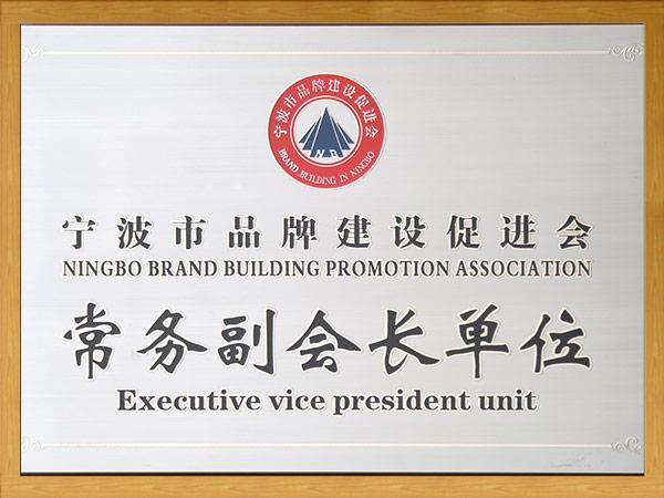 宁波市品牌建设促进会--常务副会长单位
