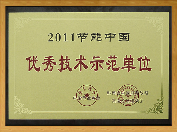 2011节能中国-优秀技术示范单位